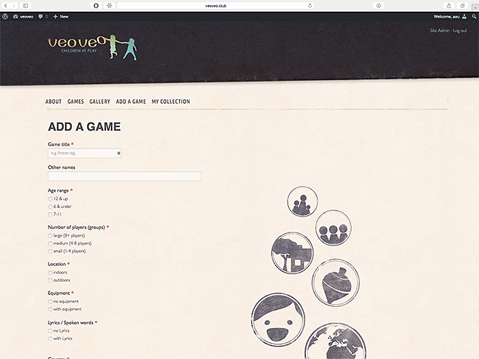 add a game page